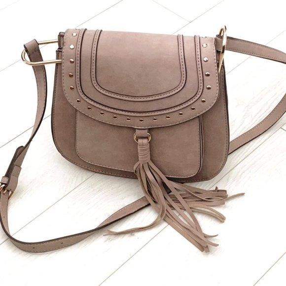 Franco Sarto Handbags - New Franco Sarto Saddle Mushroom Crossbody Bag!!!